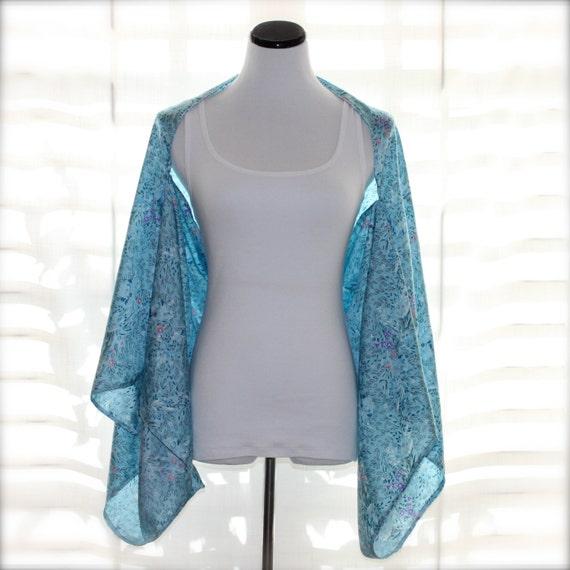 Kimono Shrug Light Blue Kimono Floral Kimono By