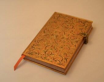 Arabesque Design Notebook with Brass Lock