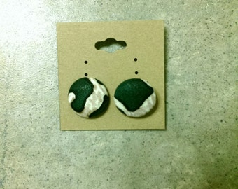 Nature Inspired Fabric Stud Earrings