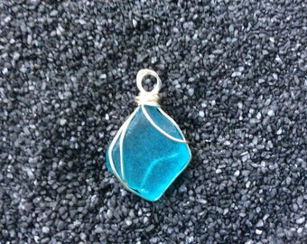 Sea Glass pendant with Wire wrapping