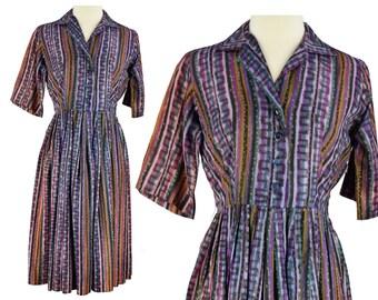 Vintage Dress, 1950s Dress, 50s Dress, Purple Rockabilly Dress, 50s Swing Dress, 50s Rockabilly Dress, 50s Day Dress, Large 50s Dress, Large