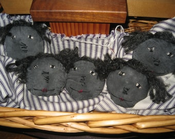 Primitive Black Annie Heads/Bowl Fillers/Made to Order