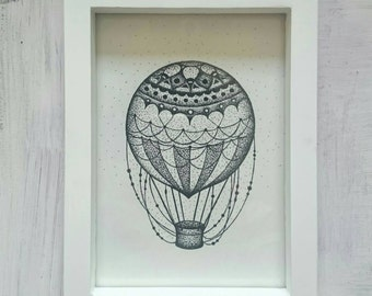 Stippled Balloon Print