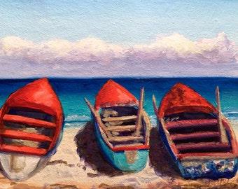 Jamaica Beach Original Acrylic Painting