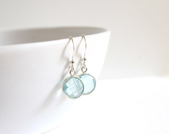 Aqua / earrings aquamarine and 925 Silver