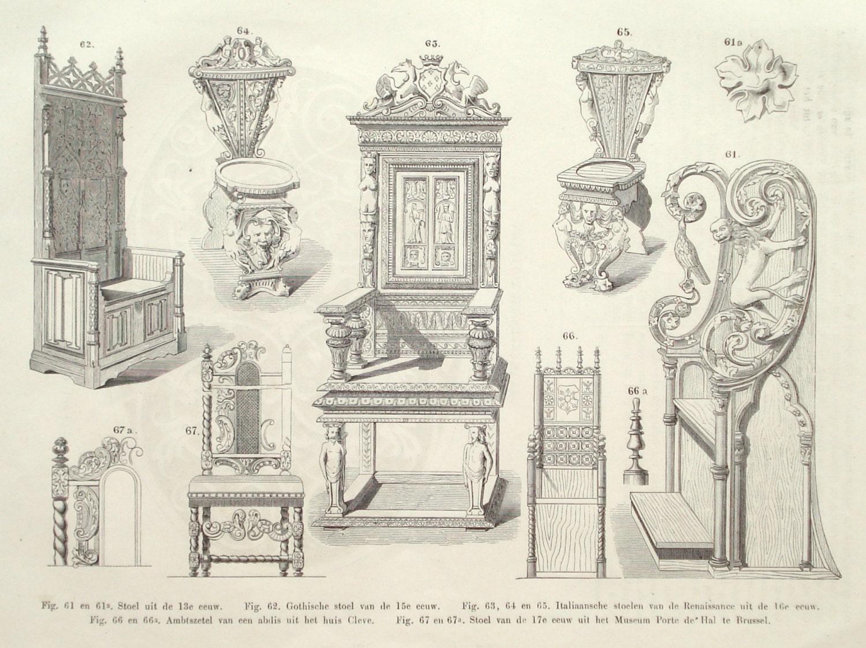 Home furniture original 1875 interior design print wall for Original design furniture