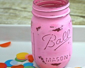 Hand Painted Mason Jar - You pick brand/size/color