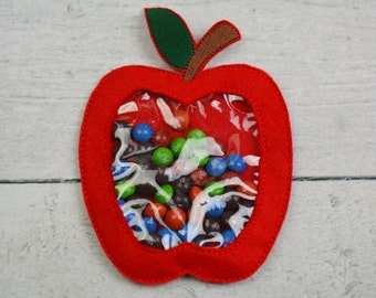 Large Apple Candy Pouch