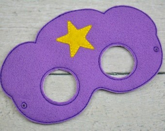 Purple Space Princess Children's Felt Mask  - Costume - Theater - Dress Up - Halloween - Face Mask - Pretend Play - Party Favor