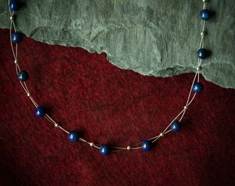 Jewelry for Bema Lapis Stones with Silver Spacer Necklace