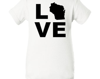 Love Wisconsin Infant Creeper by Inktastic