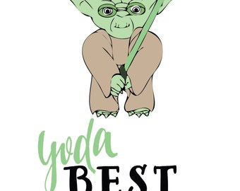 Yoda fathers day greeting card