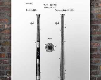 Us Patent Baseball Bat 1885
