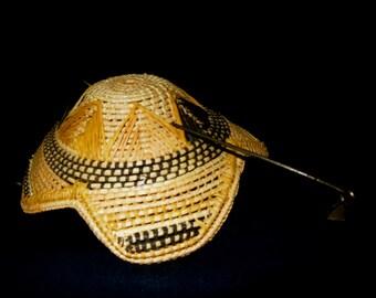 Congo/DRC Kuba Tribal Royal Prestige Hat, Cap Ethnic Art Original African