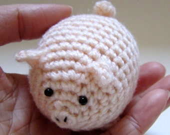 Bubble Piggy - Crochet Amigurumi Gift, Toy - finished product