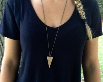 Oak triangle necklace