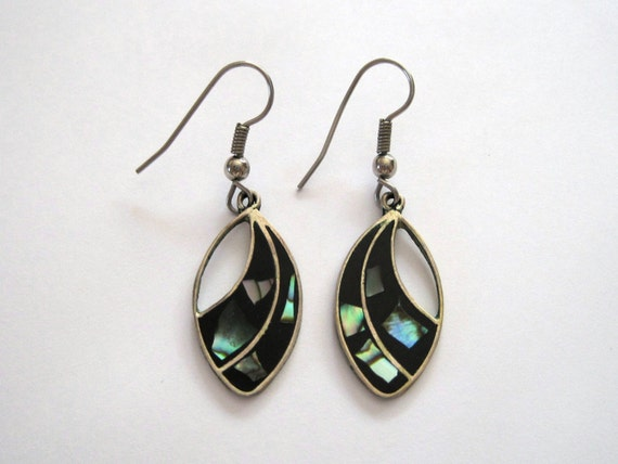 alpaca mexico earrings alpaca mexico abalone silver plated earrings gift idea 4041