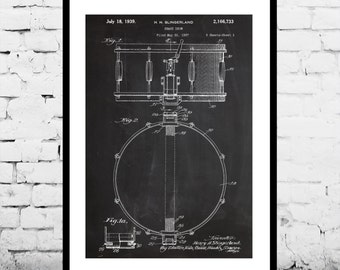 Snare Drum Print, Snare Drum Poster, Snare Drum Art, Snare Drum Blueprint, Snare Drum Wall Art, Snare Dum Decor, Drum Art, Percussion