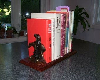 Sliding Bookends Adjustable Bookends W.H. Howell Brass End of Trail