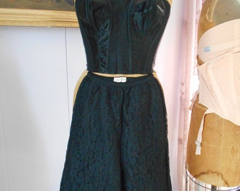 Cute 1960's Black Lace Bloomers