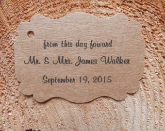 Personalized  Wedding  tags set of 25 wedding favor tags,  wedding tags