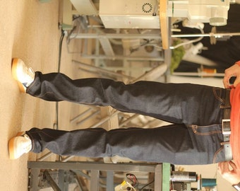 Pattern Denim Jeans - Men Slim Straight