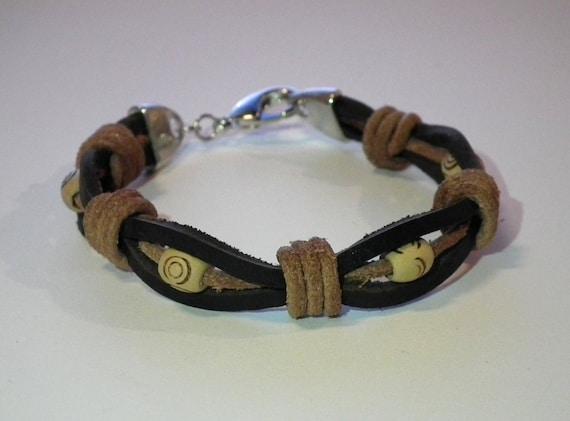 Cool leather bracelet for men