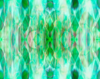 Spring green art, abstract art, symmetrical pattern, electric green, nature inspired, pattern, Good Vibrations
