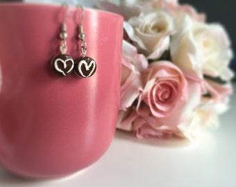Miniature Heart Oreo Earrings