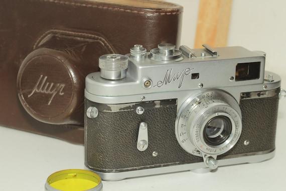 "USSR ""MIR"" - Soviet rangefinder camera Vintage With Industar-50 Lens&Case ж"