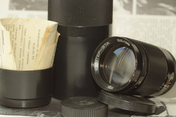 Jupiter-37A Telephoto Lens 3.5/135mm M42 With Case Hood and Both Caps И13