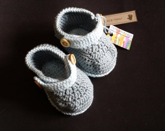 Baby BOOTIES blue grey BENITO
