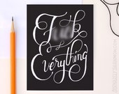 """Humor Card """"F*ck Everything"""", A2 greeting card"""