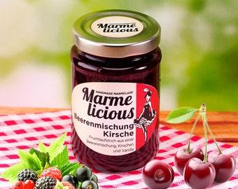 Berry mix cherry jam jam