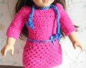 American Girl Doll Crocheted School Outfit