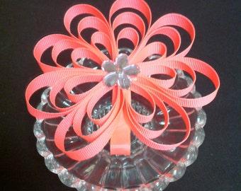 Neon Pink Flower Clip