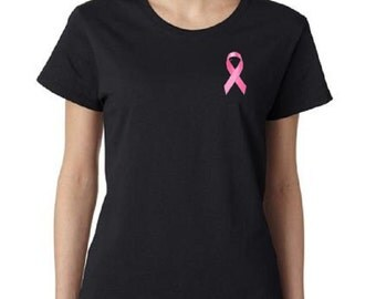 Breast Cancer Awareness Ribbon Womens T-Shirt All Sizes & Colors