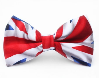 Union Jack Bow Tie | Bow Tie for Men | For Him | England | London | Dog Bow Tie | Mens Bow Tie | Boys Bow Tie | Wedding Bow Men | Groomsmen