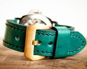 Horween Sea Green Chromexcel Watch Strap