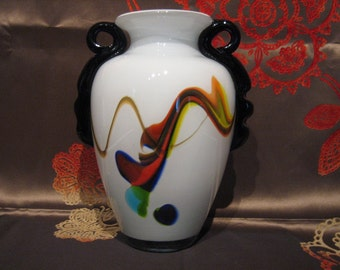 ART GLASS VASE - c. 1950's
