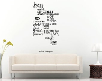 Famous Poetry Quote Saying Citation Words Wall Decal Vinyl Sticker Mural Room Decor L1133
