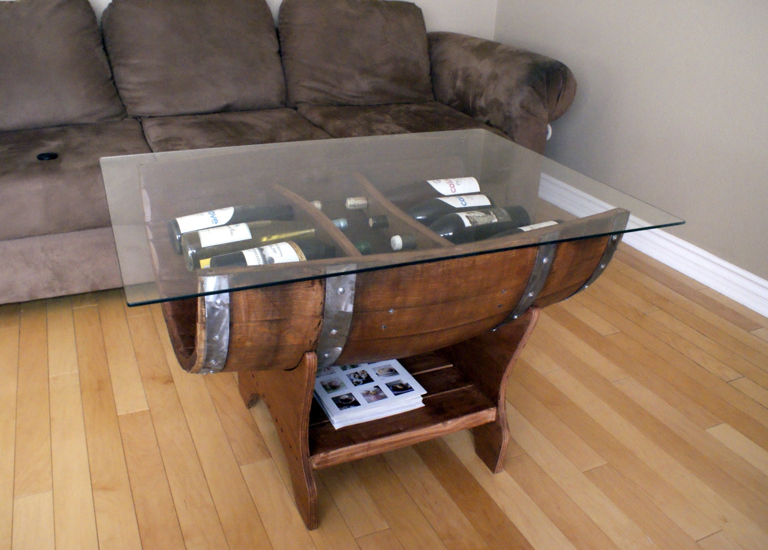Wine barrel table One of a kind coffee tables