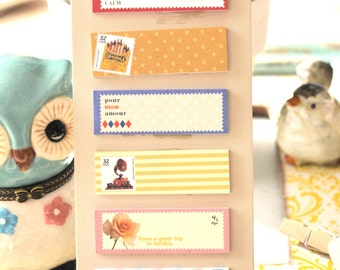 Cute BEIGE Shabby Chic Travel Sticker Notes /Journal/ Scrapbooking