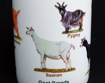 Mixed Goat Breeds, Ceramic Mug