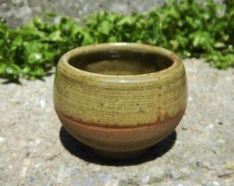 Olive Pot-Belly Ceramic Shot Glass