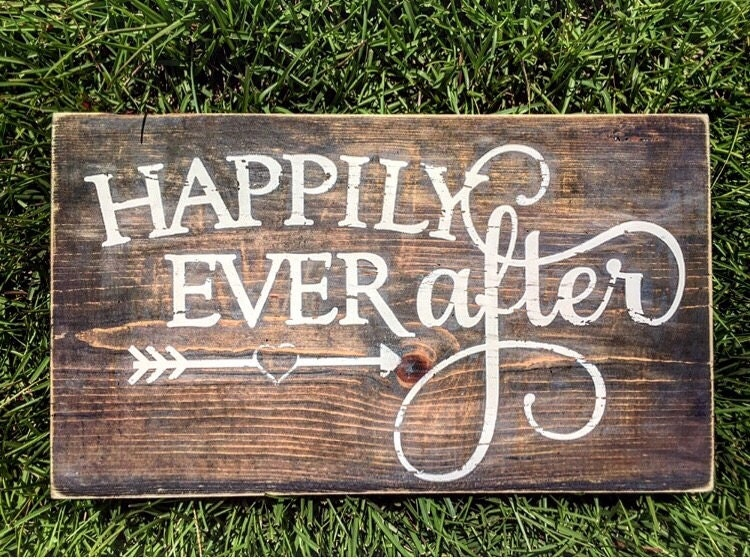 Happily Ever After Sign Rustic Sign Wedding Photo Prop