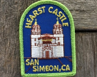 Hearst Castle, San Simeon California Vintage Travel Souvenir Patch by Lion - New in Original Package