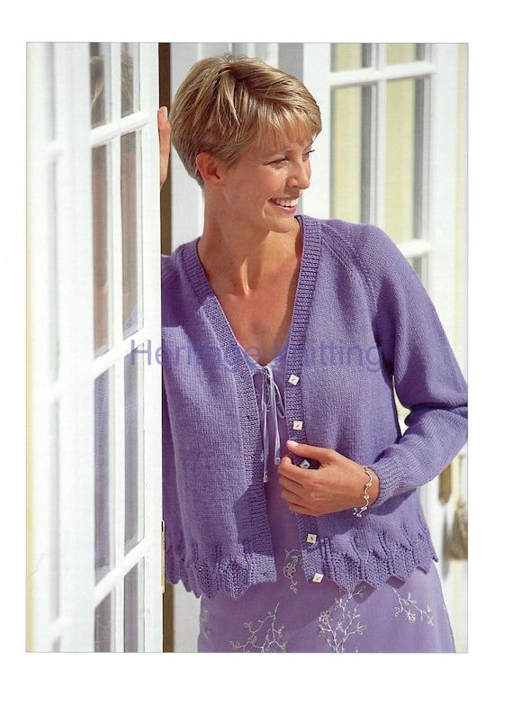 womens ladies cardigan 4 ply knitting pattern 99p pdf