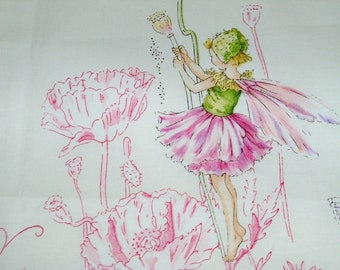 COWTAN & TOUT WHIMSICAL Fairy Tales Flower Fairies Fabric 10 Yards White Pink Green Multi