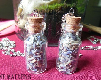 Vial of Dried Lavender Necklace - N21